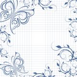 Paper background with butterflies Stock Photos