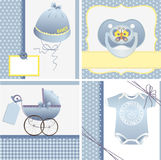 Cute templates for baby card Stock Image
