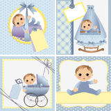 Cute templates for baby card Royalty Free Stock Image
