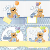Cute templates for baby card Royalty Free Stock Images