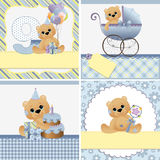 Cute templates for baby card Stock Images