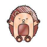 Cute and tender Porcupine. Vector illustration design Royalty Free Stock Images