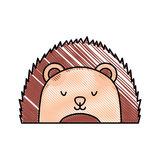 Cute and tender Porcupine. Vector illustration design Royalty Free Stock Image