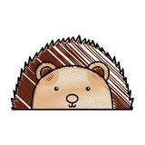 Cute and tender Porcupine. Vector illustration design Royalty Free Stock Photos