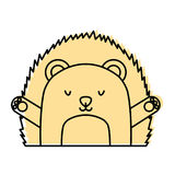 Cute and tender Porcupine. Vector illustration design Royalty Free Stock Photography