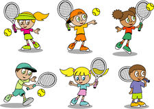 Cute tennis Kids Stock Images