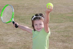 Cute tennis lerner Stock Photo