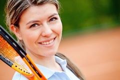 Cute tennis player Royalty Free Stock Photo