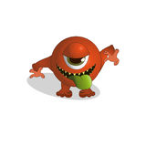 Cute terrible monster. A cute terrible colored monster Stock Photos