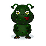 Cute terrible monster Stock Image