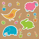 Сute text frames in the shape of animals Stock Photography