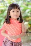Cute Thai girl wearing typical Thai dress Royalty Free Stock Photo