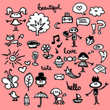 Cute things set Royalty Free Stock Images