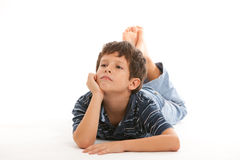 Cute thinking boy Stock Photo