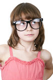 Cute thoguhtful child with funny glasses Royalty Free Stock Photography