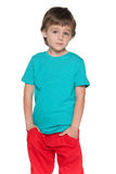 Cute thoughtful young boy Royalty Free Stock Photos