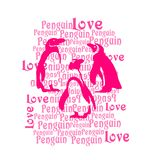 Penguin printing, kids t-shirt print royalty free illustration
