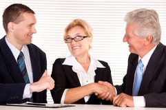 cute three people at office Royalty Free Stock Image