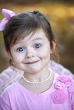 Cute three year old brunette girl Royalty Free Stock Photography