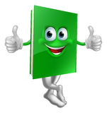 Cute thumbs up green book character. Illustration of a cute smiling thumbs up green book character Royalty Free Stock Photography