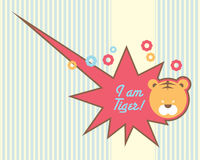 Cute tiger baby design template Royalty Free Stock Photography