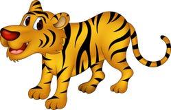 Cute tiger cartoon. Vector illustration of cute tiger cartoon Royalty Free Stock Photos