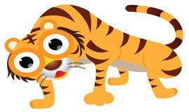 Cute tiger cartoon. Big eyes Stock Photos