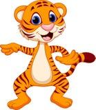 Cute tiger cartoon dancing Royalty Free Stock Photo