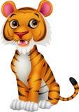 Cute tiger cartoon. Illustration of Cute tiger cartoon Stock Images