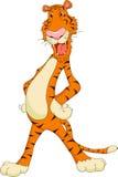 Cute tiger cartoon. Illustration of cute tiger cartoon Royalty Free Stock Photography