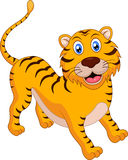 Cute tiger cartoon. Illustration of Cute tiger cartoon Royalty Free Stock Photos