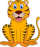 Cute tiger cartoon. Illustration of Cute tiger cartoon Stock Photos