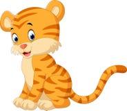 Cute tiger cartoon Royalty Free Stock Image