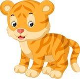 Cute tiger cartoon. Illustration of Cute tiger cartoon Royalty Free Stock Photo