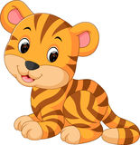 Cute tiger cartoon. Illustration of Cute tiger cartoon Royalty Free Stock Image