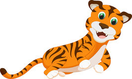 Cute tiger cartoon Royalty Free Stock Photography