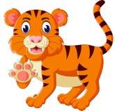 Cute tiger cartoon roaring Stock Photos