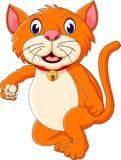 Cute tiger cartoon roaring Stock Image