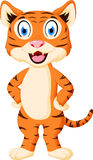 Cute tiger cartoon standing Royalty Free Stock Image