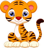 Cute tiger cartoon. Cute tiger with white background Royalty Free Stock Photos