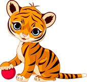 Cute tiger cub stock illustration
