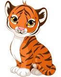 Cute tiger cub royalty free illustration