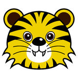 Cute Tiger Vector. Cute animal faces in  (One of 25 of them Stock Images