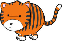 Cute Tiger Vector Illustration Stock Image