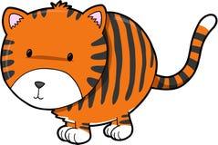 Cute Tiger Vector Illustration Stock Image