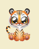 Cute Tiger Vector Illustration Art Stock Photos