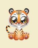 Cute Tiger Vector Illustration Art. Illustration of a cute tiger Stock Photos