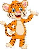 Cute tiger waving hand. Illustation of Cute tiger waving hand Stock Photo