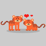 Cute tigers in love Stock Image