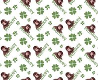 Cute tiny monkey and textile printing variants, gift paper printing patterns, animal picture and writings, pattern, fabric pattern royalty free stock photos
